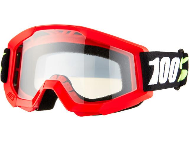 100% Strata Mini Anti Fog Clear Gafas Niños, red
